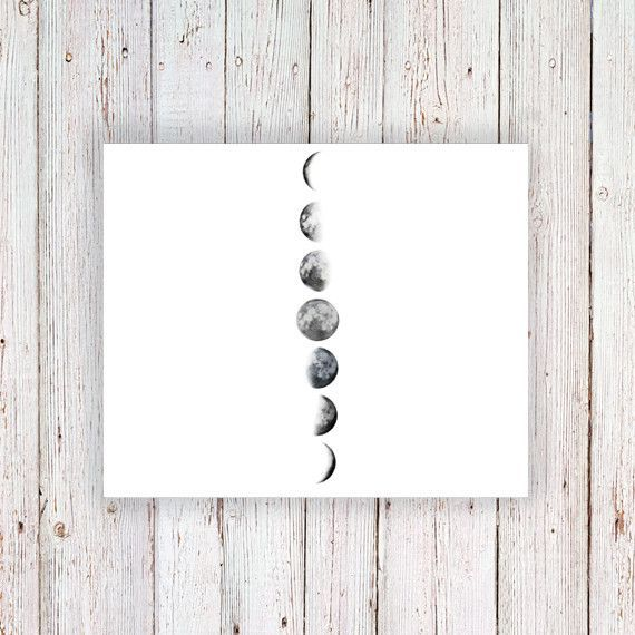 This moon phase temporary tattoo looks amazing on your arm or wrist. It's cute and stylish at the same time! A temporary tattoo for any occasion! ......................................................