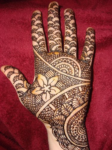 A slightly different Mehndi Design