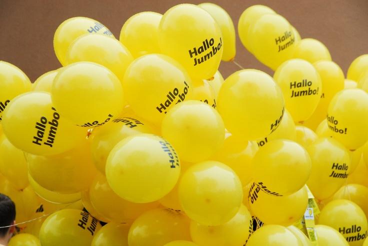 ballonnen oplaat actie op Het Vlier - 15-6-2012