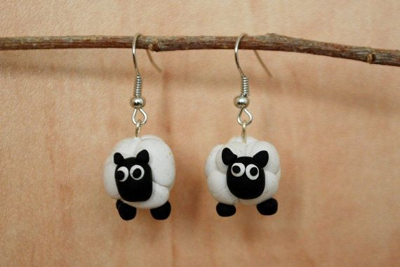 Happy Sheep  by CoolMooseJewelry on Etsy