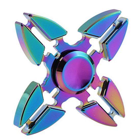 Nieuw metalen fidget spinner die draait extra lang.