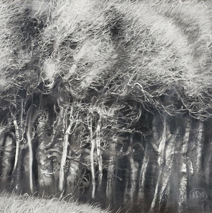 blastedheath:  Roj Friberg (Swedish. b, 1934), Untitled, 1973. Pencil on paper, 59 x 59cm.