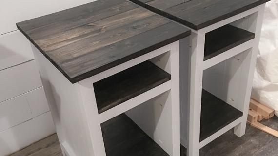 Woodworking Projects Free Diy Projects Plans Ana White Bedside Farmhouse Furniture Plans Planked Sh In 2020 Wood Bedside Table End Table Plans Diy Nightstand