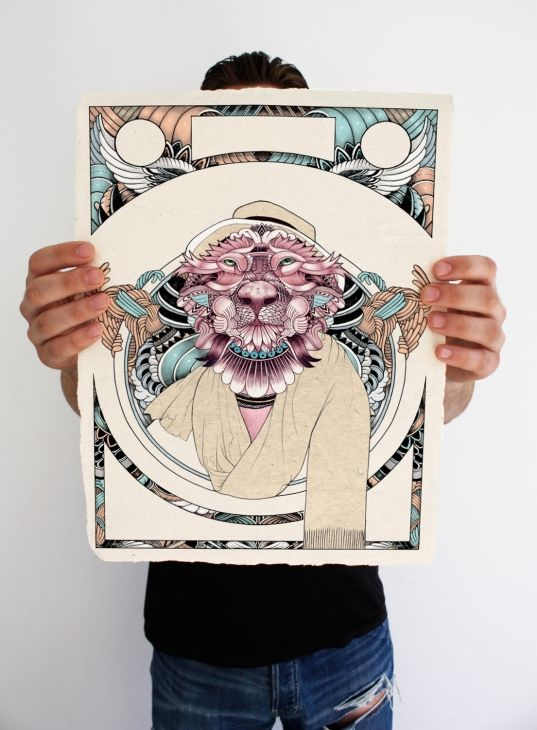 King of The jungle giclee print