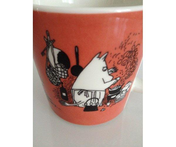 Porcelæn, Mumi krus, Arabisk, Smukt gammelt mumi krus Mørk