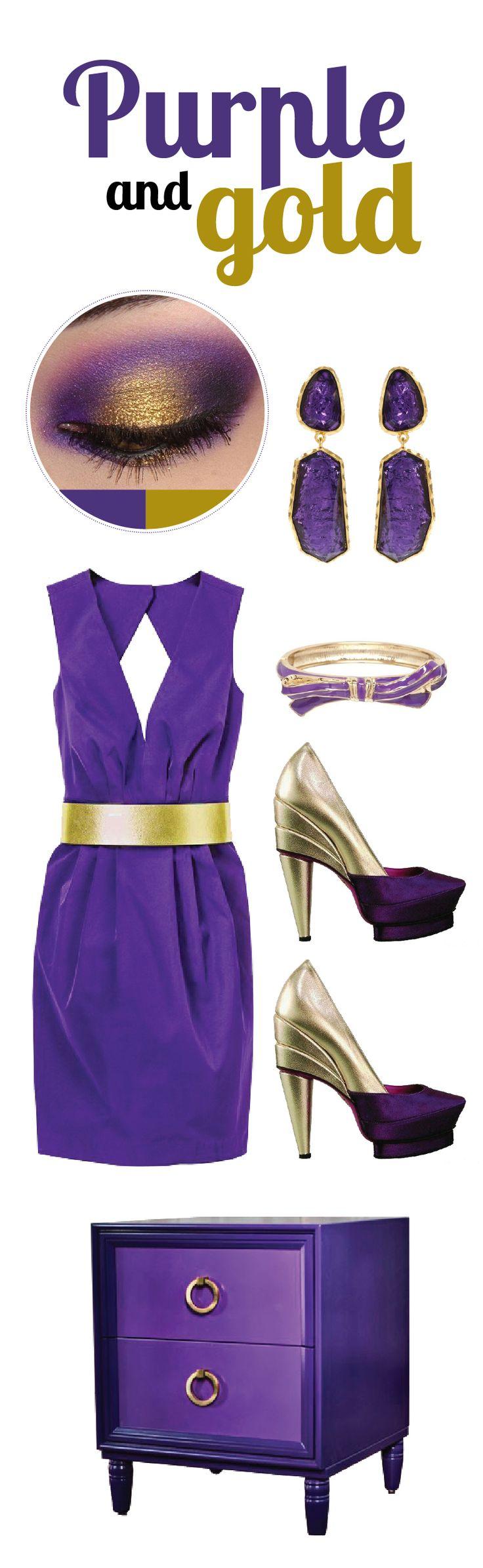 purple & gold wedding color inspiration