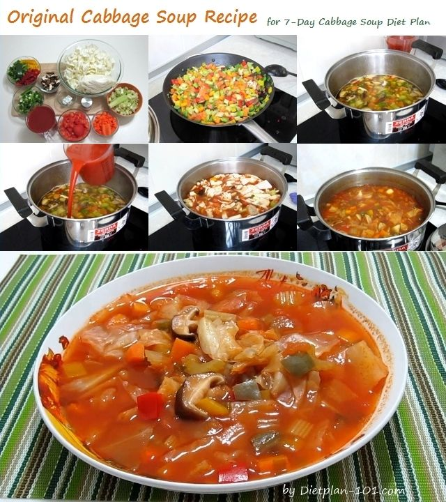 Cabbage Soup Diet Original Cabbage Soup Recipe | Diet Plan 101