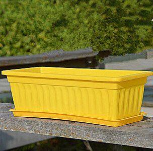 Long rectangular Grow vegetables plastic pots -- Click image for more details.