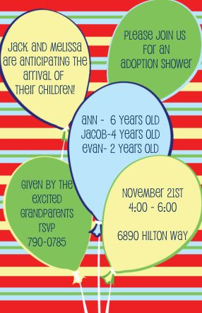 11 best adoption shower images on pinterest | party invitations, Party invitations