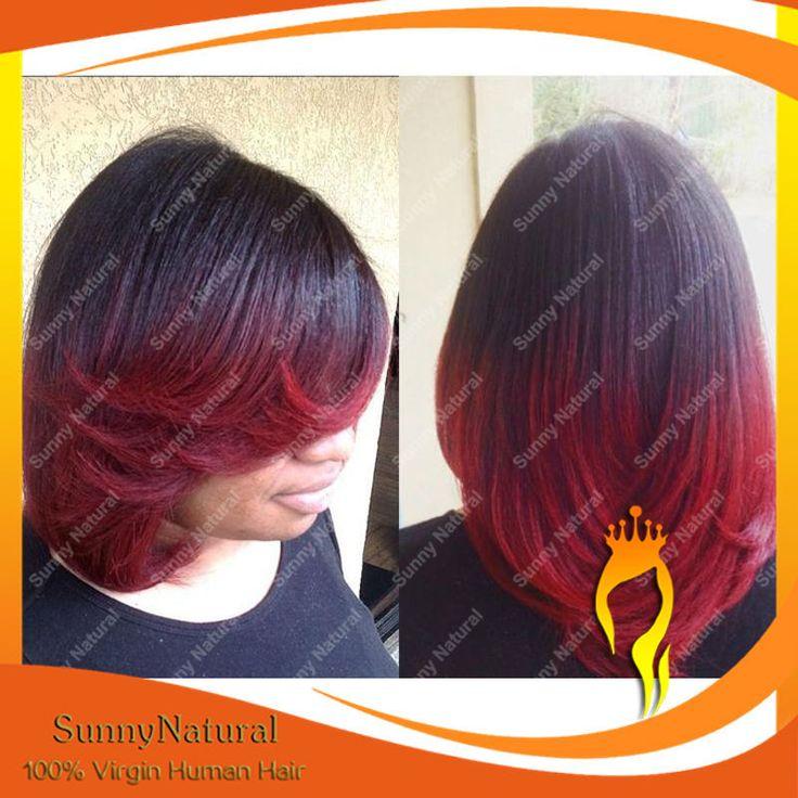 1b / red two tone rambut manusia bob pendek renda depan wig ombre bob wig dengan poni -Wig-ID produk:60075450632-indonesian.alibaba.com