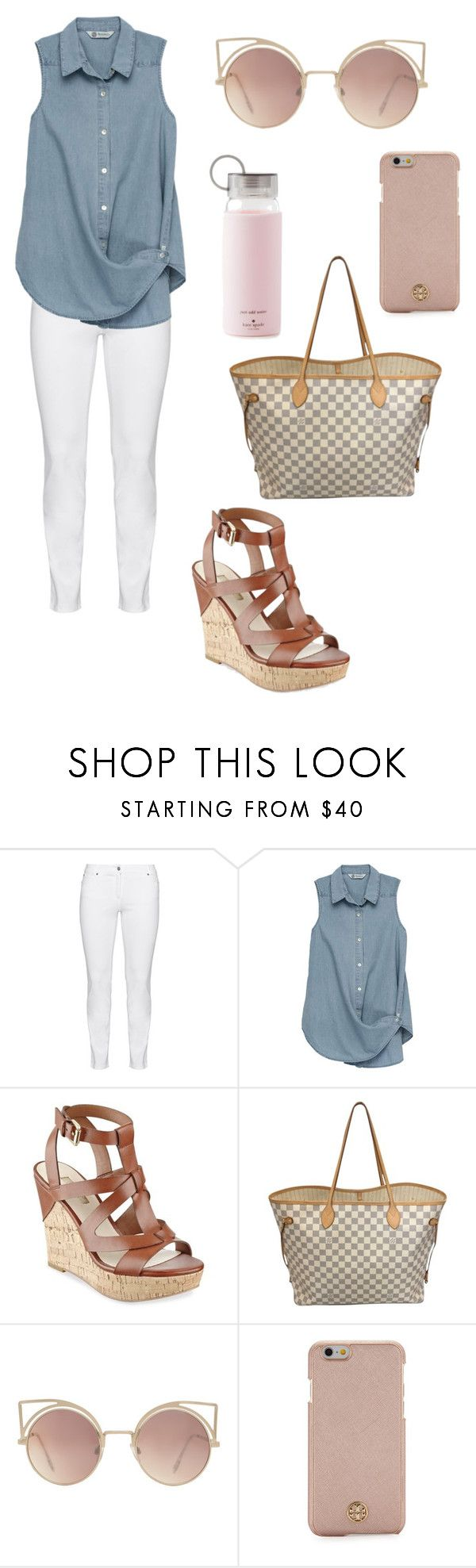 """""""cute spring outfit"""" by fashionblogger2122 on Polyvore featuring Steilmann, Bobeau, GUESS, Louis Vuitton, MANGO, Tory Burch and Kate Spade"""