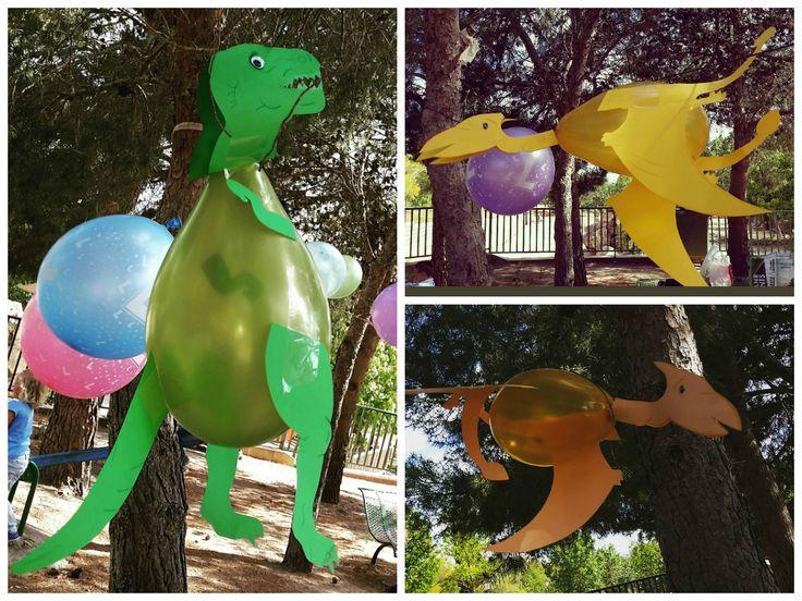 Globos-dinosaurios