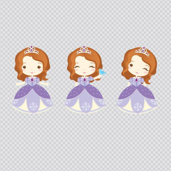 Princess Sofia Clipart Instant Download PNG Files. by araqua