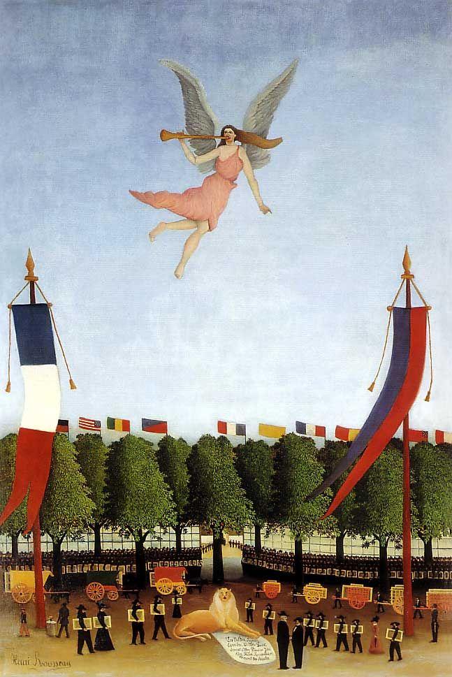 アンリ・ルソー『第22回アンデパンダン展への参加を呼びかける自由の女神』(1906 東京国立近代美術館) : 原田マハ著『楽園のカンヴァス』に登場する絵画のまとめ - NAVER まとめ