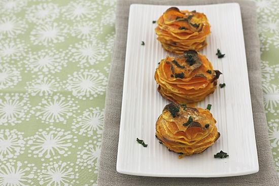 Sweet Potato Stacks with Crispy Sage Leaves: Crispy Sweet, Gourmet ...