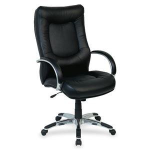 Lorell Stonebridge Leather Executive High-Back Chair 60505