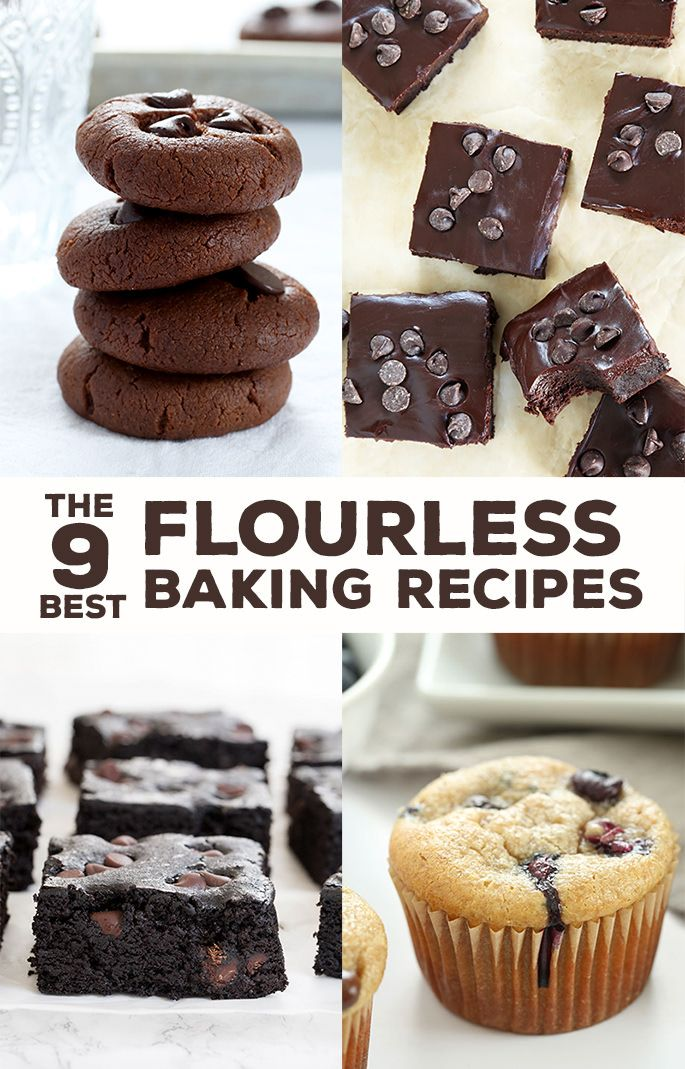 These 9 flourless baking recipes are naturally gluten free. Make the best muffins, brownies, cookies and cake of your life. No special ingredients required!