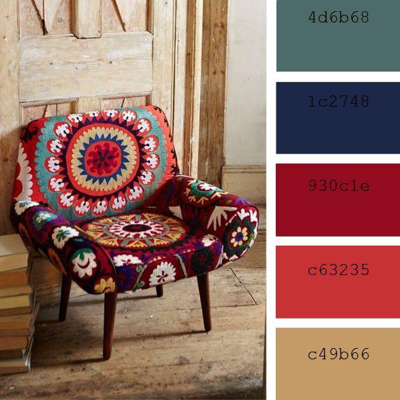 Paletas de color: boho decor