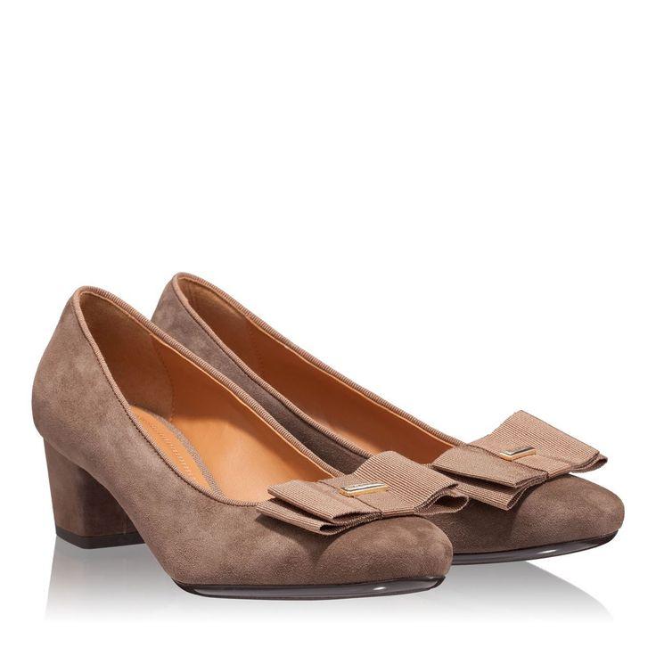 Imagine Pantofi dama taupe 4248 piele intoarsa