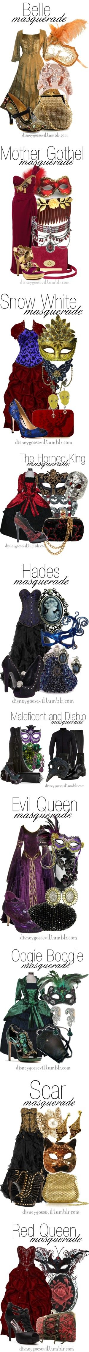 """Disney Villains Masquerade"" by disney-villains ❤ liked on Polyvore"