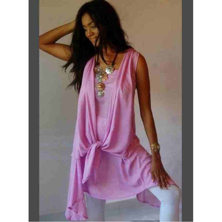 PRE-ORDER - Designer Chic Chiffon Mini Dress or Long Top (Pink) $56.00 http://www.curvyclothing.com.au/index.php?route=product/product&path=95_97&product_id=9140