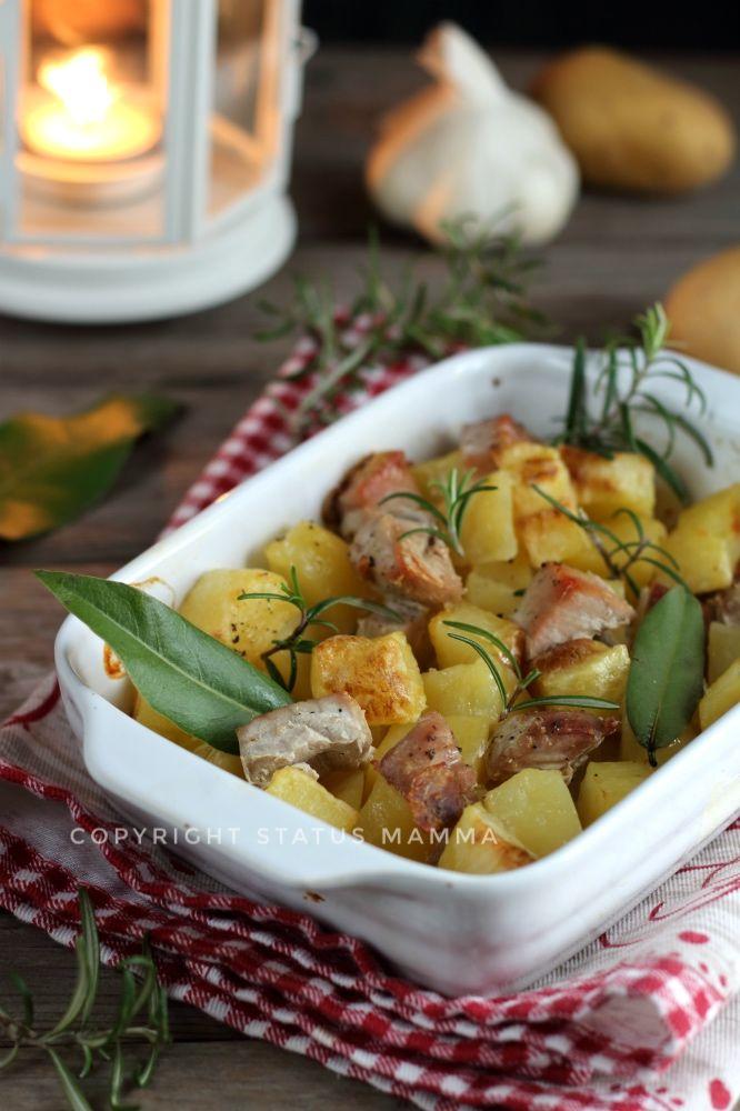 Tranci di tonno al forno con patate food photograpy ricetta cucinare light leggera dieta