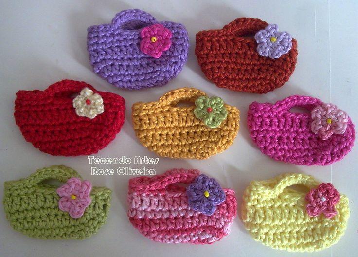 Tecendo Artes em Crochet: bolsinhas                                                                                                                                                                                 Mais