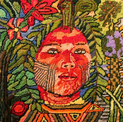 21 Best Rug Hooking-people And Faces Images On Pinterest