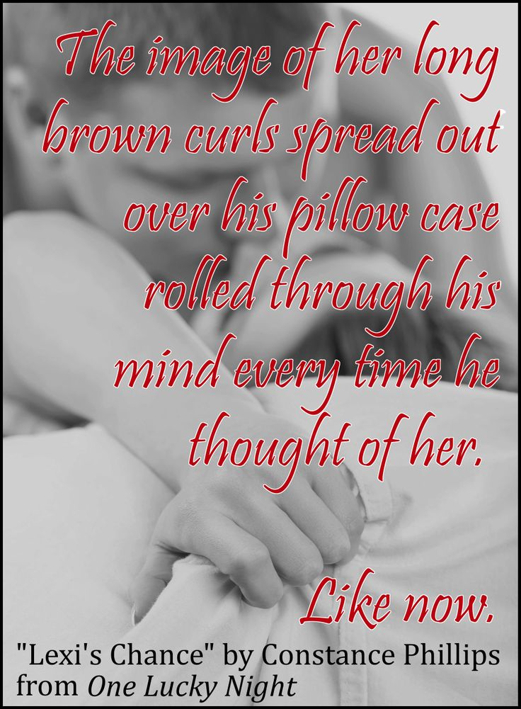 From One Lucky Night: a teaser from Lexi's Chance.