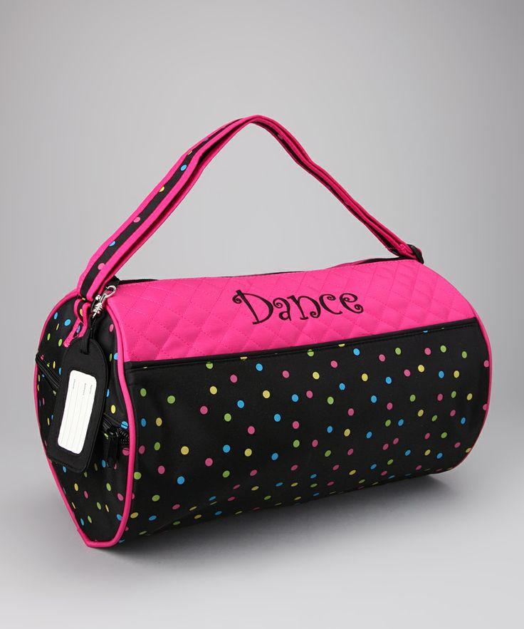 Black Confetti Dance Duffle Bag By Sassi Designs On