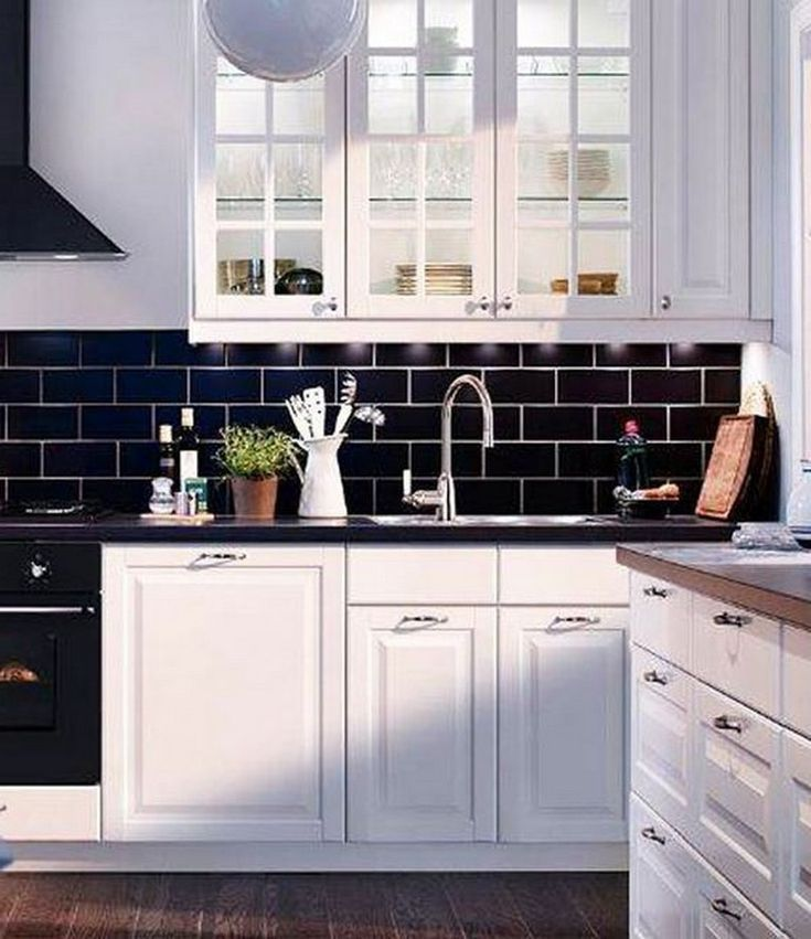 10 Admirable Stylish Black And White Subway Tiles Kitchen Design With Matching Furniture White Subway Tile Kitchen Kitchen Interior Diy Kitchen Tiles Design