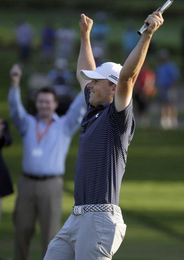 jordan spieth 18th hole reaction | Jordan Spieth beats Patrick Reed, Sean O'Hair in playoff | The Augusta ...