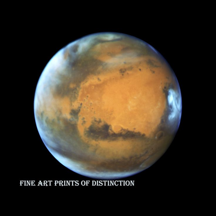 Mars near the 2016 opposition art print hubble space