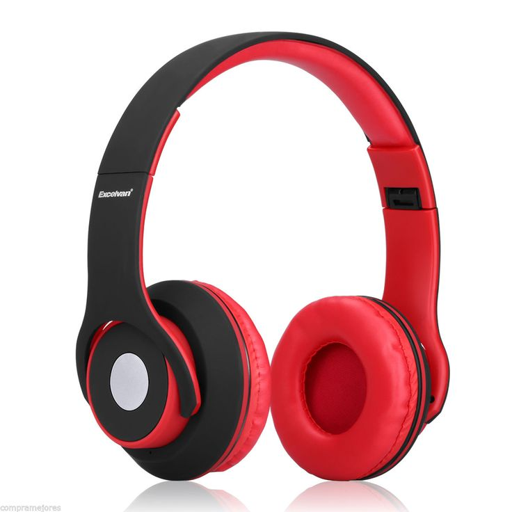 OY5 Wireless Bluetooth Foldable Over-ear Headsets Black & Red