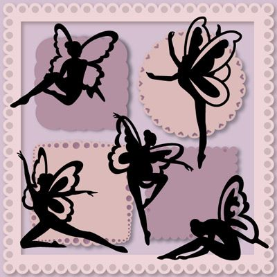 Flitting Fairies - $3.99 : SVG Files for Silhouette, Sizzix, Sure Cuts A Lot and Make-The-Cut - SVGCuts.com