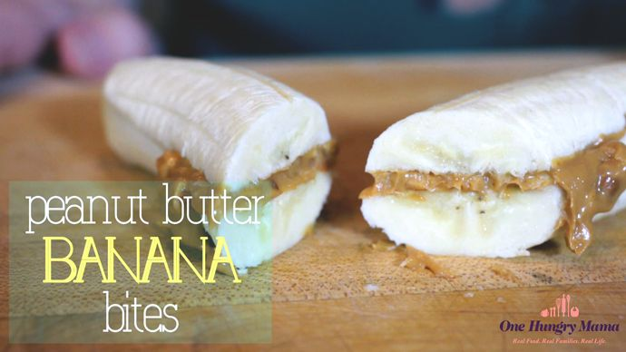 Back-to-school snacks: Peanut Butter Banana Bites at One Hungry Mama