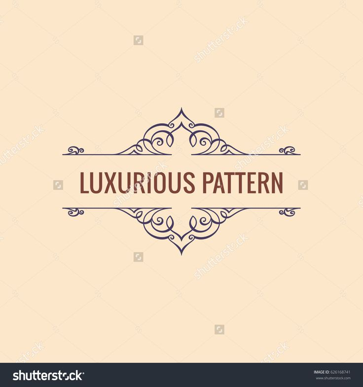 Calligraphic Luxury line logo. Flourishes red frame. Royal vintage design. Beauty symbol decor for menu card, invitation label, Restaurant, Cafe, Hotel. Vector line illustration