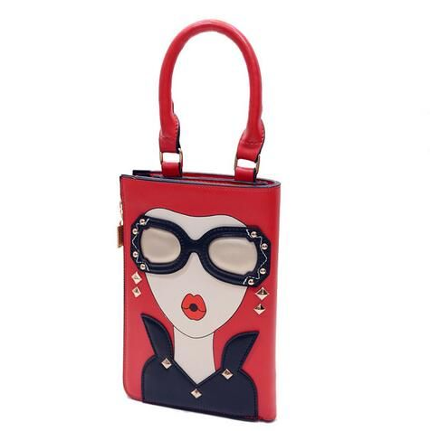M115 Cute Cartoon Beautiful Woman  Specific Character Pu Leather  Shoulder Bags Big Size Women Gift Wholesale