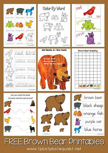 Montessori Monday - Montessori-Inspired Brown Bear, Brown Bear Activities | LivingMontessoriNow.com
