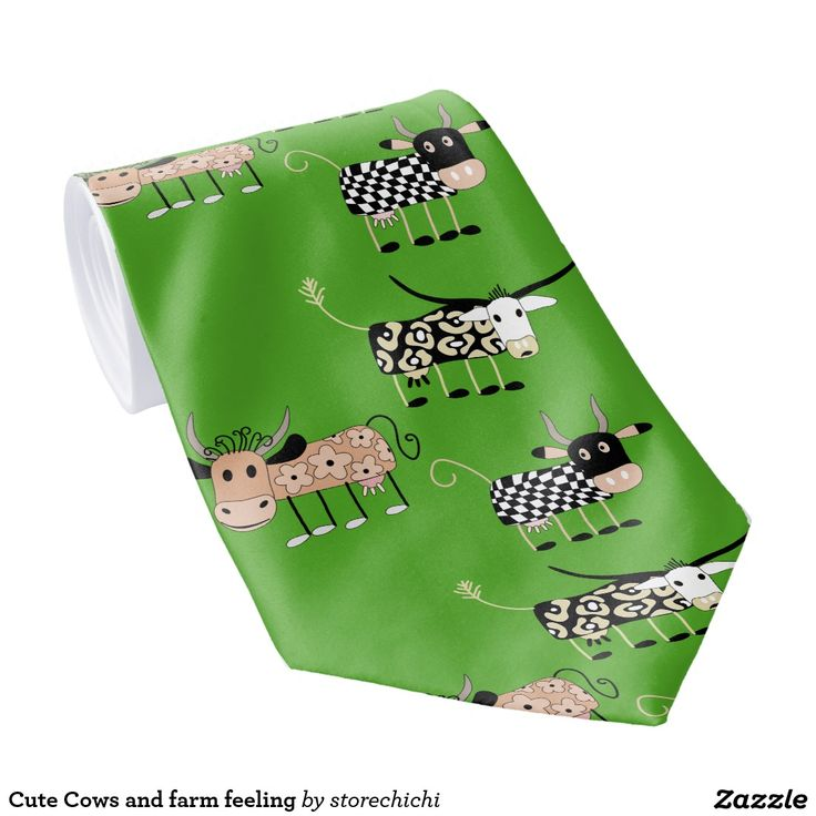 Cute Cows and farm feeling Neck Tie
