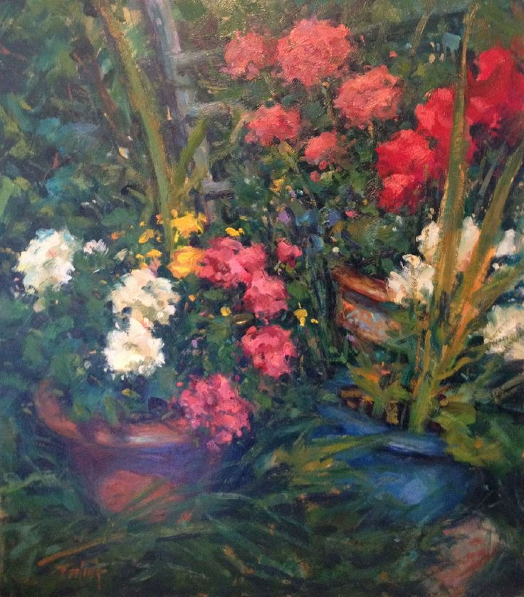 Potted Plants by Norman Teeling on ArtClick.ie