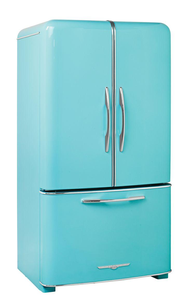 A Wonderful Two Doors Turquoise Fridge Retro Kitchen Appliancesretro