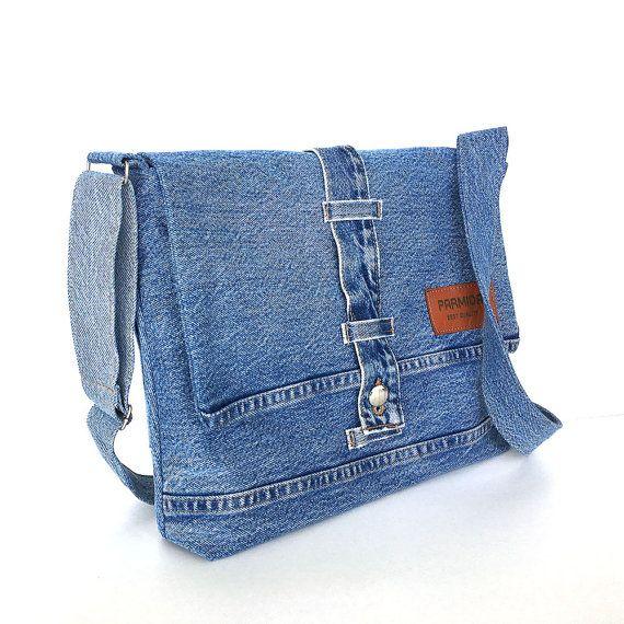 Jeans-Kuriertasche recycelten Jeans Crossbody Tasche von Sisoibags