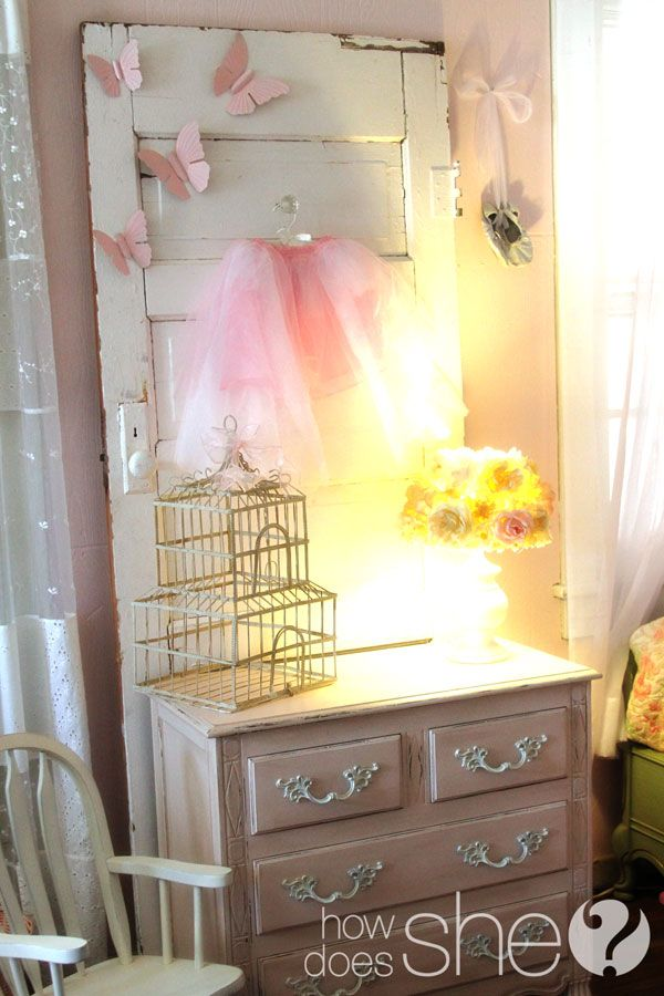 cute style ideas on the cheap...want to do a door like this for her room