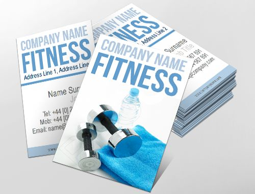 89 best business card designs images on pinterest business card contemporary business card design ideal for fitness enthusiasts customise a range of business card reheart Choice Image