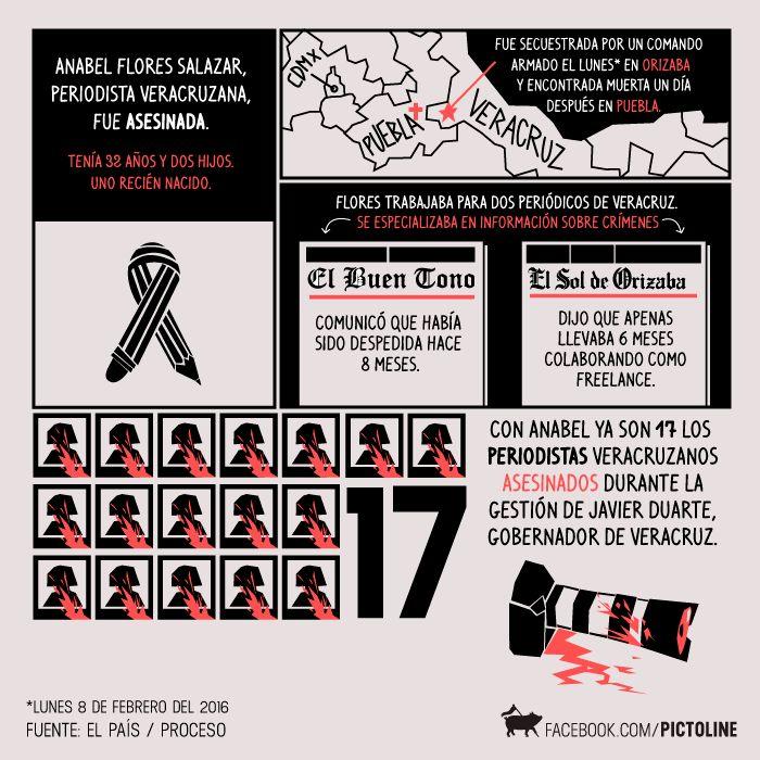In memoriam: Anabel Flores Salazar | El País, Proceso y Pictoline | Periodismo en Veracruz, México.