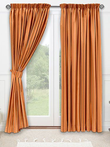 Isis Burnt Orange Curtains from Curtains 2go