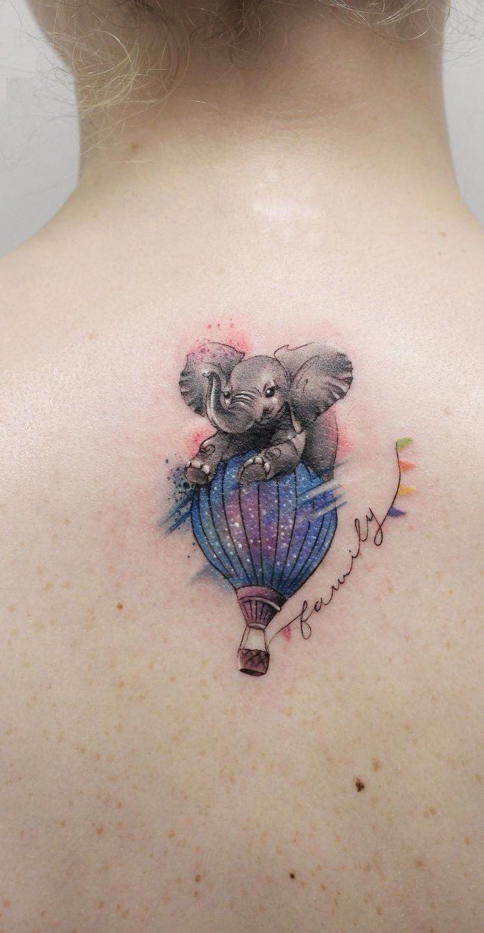 cute elephant tattoo © tattoo artist Deborach Genchi ❤🐘❤🐘❤🐘❤…