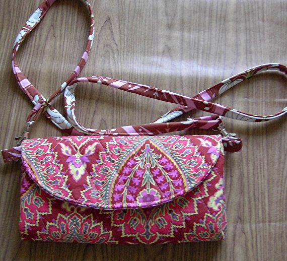 Floral wallet on a strap