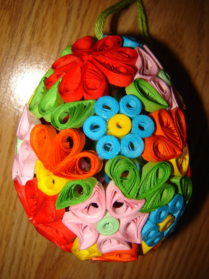 happy easter quilling